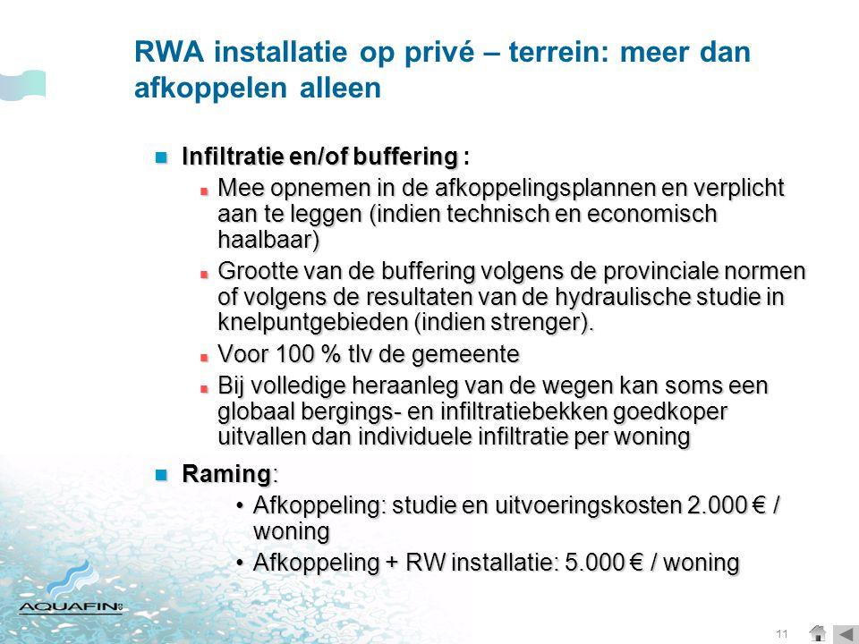 RWA installatie op privé – terrein: meer dan afkoppelen alleen