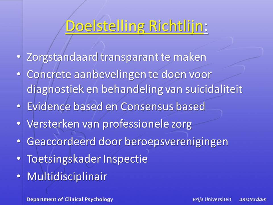 Doelstelling Richtlijn: