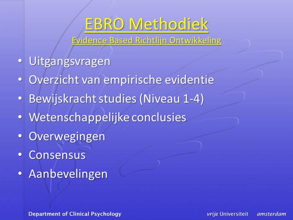 EBRO Methodiek Evidence Based Richtlijn Ontwikkeling