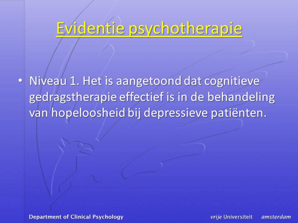 Evidentie psychotherapie