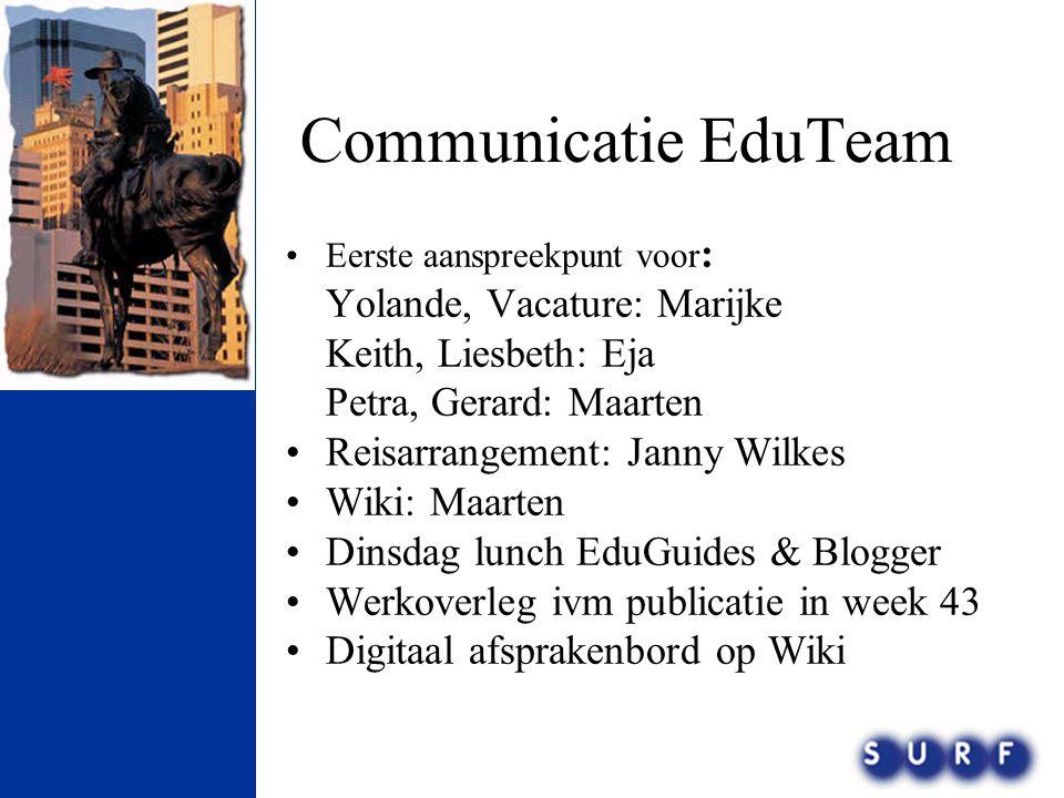 Communicatie EduTeam Yolande, Vacature: Marijke Keith, Liesbeth: Eja