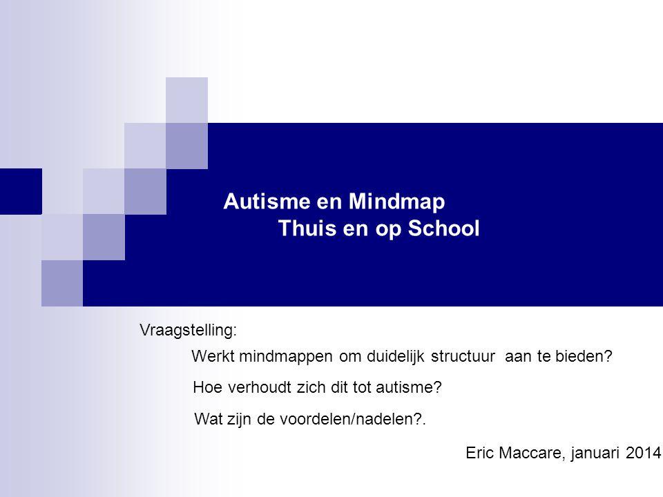 Autisme en Mindmap Thuis en op School