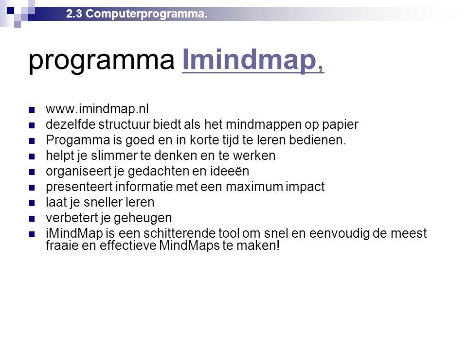 programma Imindmap, www.imindmap.nl