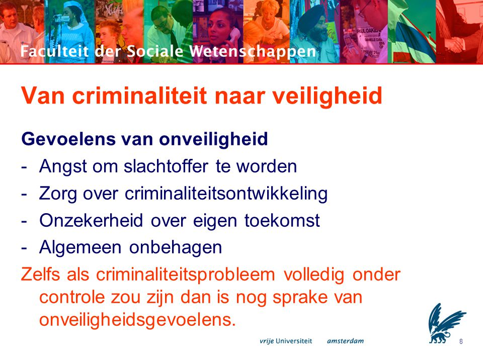 Van criminaliteit naar veiligheid