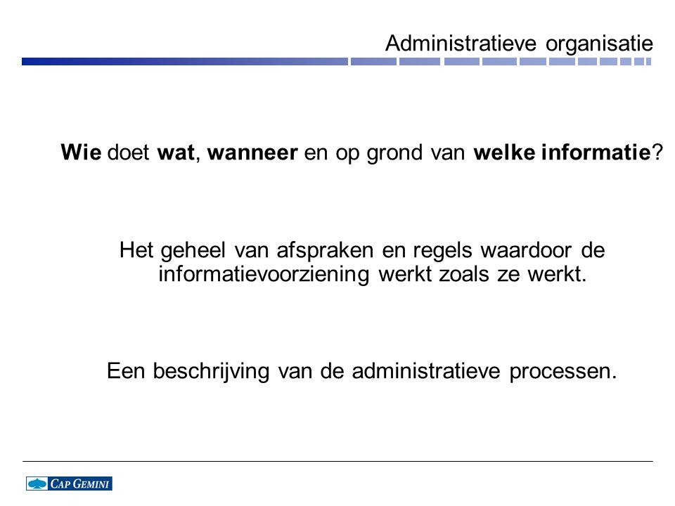 Administratieve organisatie
