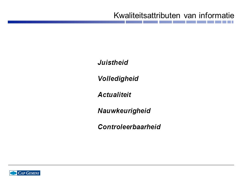 Kwaliteitsattributen van informatie