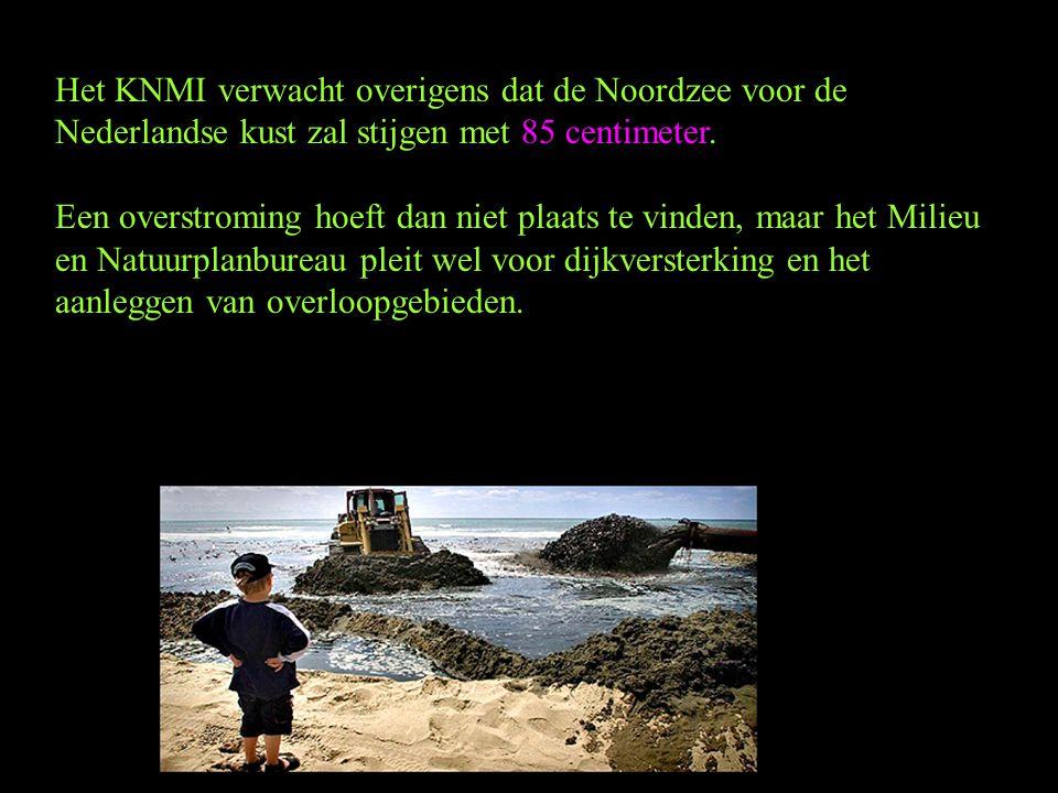 Het KNMI verwacht overigens dat de Noordzee voor de Nederlandse kust zal stijgen met 85 centimeter.