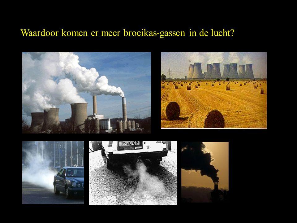 Waardoor komen er meer broeikas-gassen in de lucht