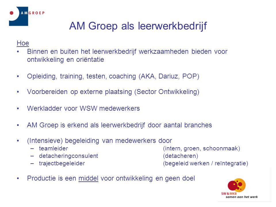 AM Groep als leerwerkbedrijf