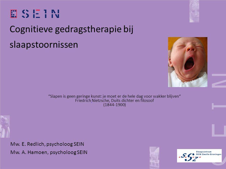 Cognitieve gedragstherapie bij slaapstoornissen