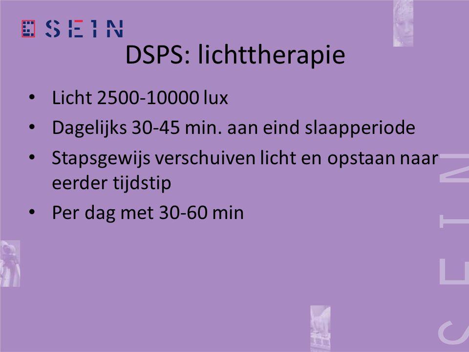 DSPS: lichttherapie Licht 2500-10000 lux