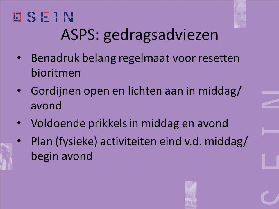 ASPS: gedragsadviezen