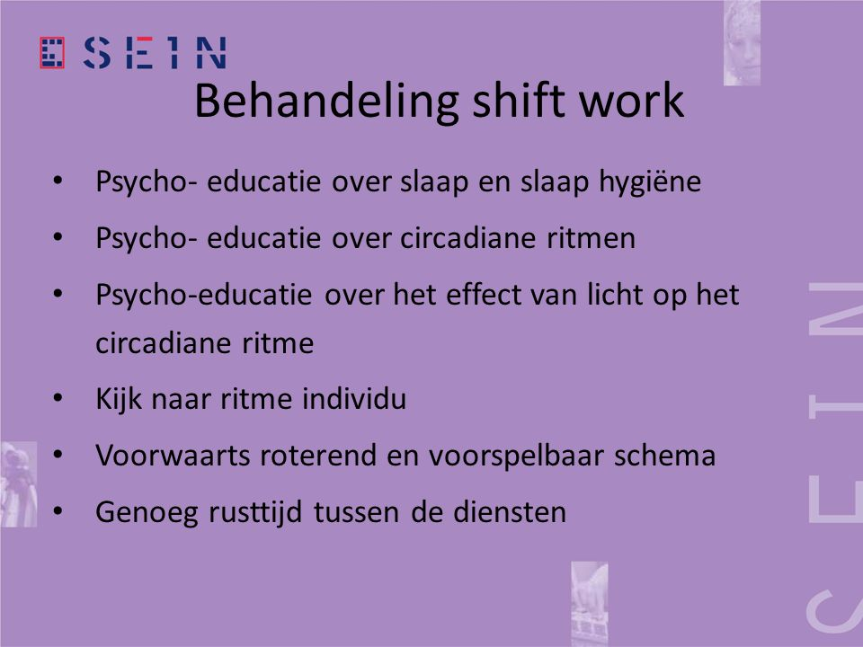 Behandeling shift work