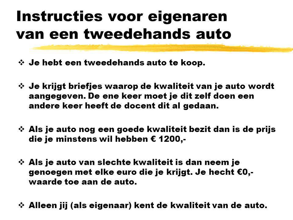 Instructies voor eigenaren van een tweedehands auto