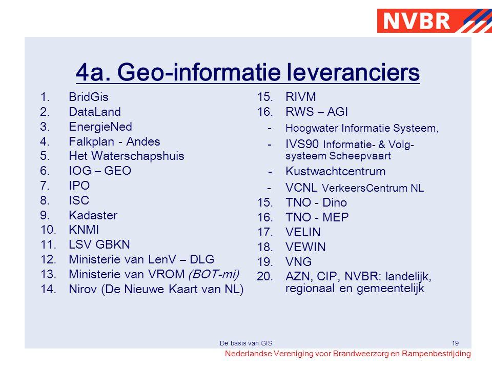 4a. Geo-informatie leveranciers
