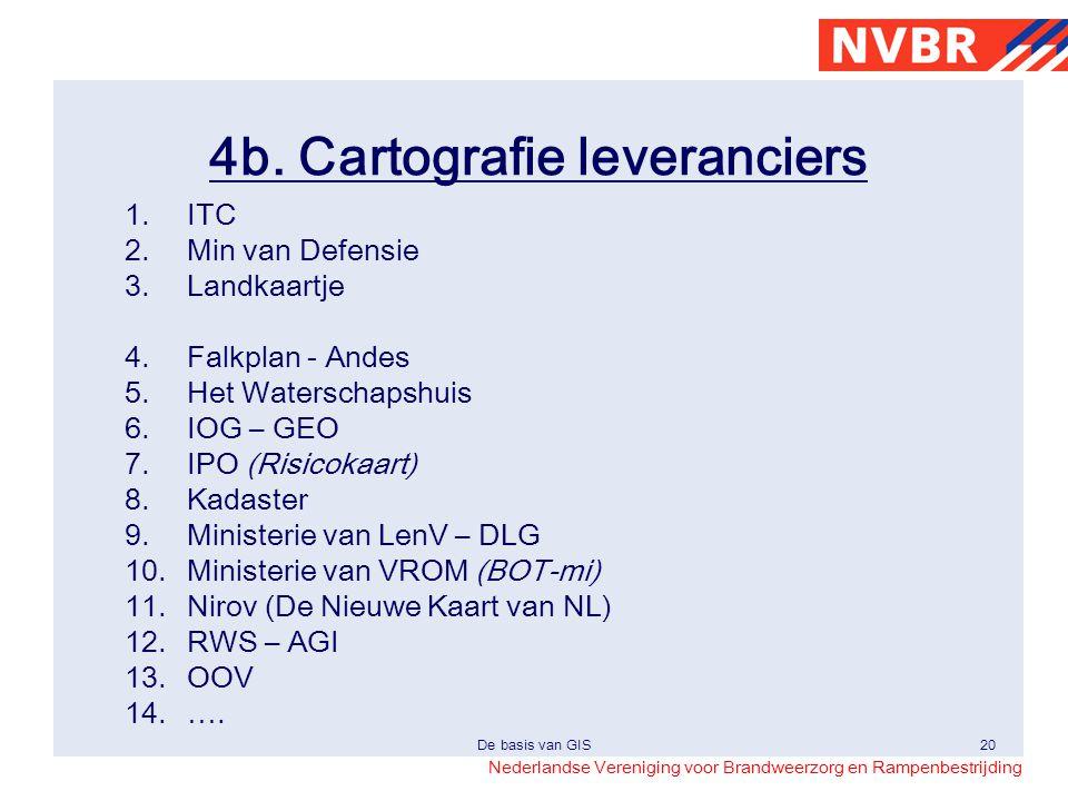 4b. Cartografie leveranciers