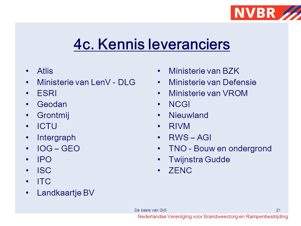 4c. Kennis leveranciers Atlis Ministerie van LenV - DLG ESRI Geodan