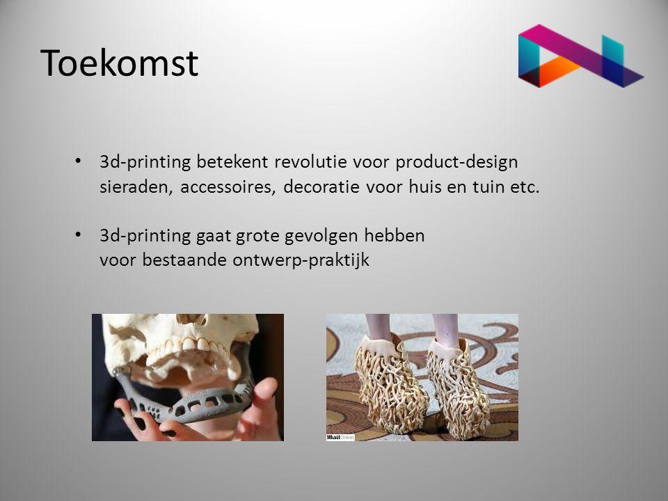 Toekomst 3d-printing betekent revolutie voor product-design sieraden, accessoires, decoratie voor huis en tuin etc.