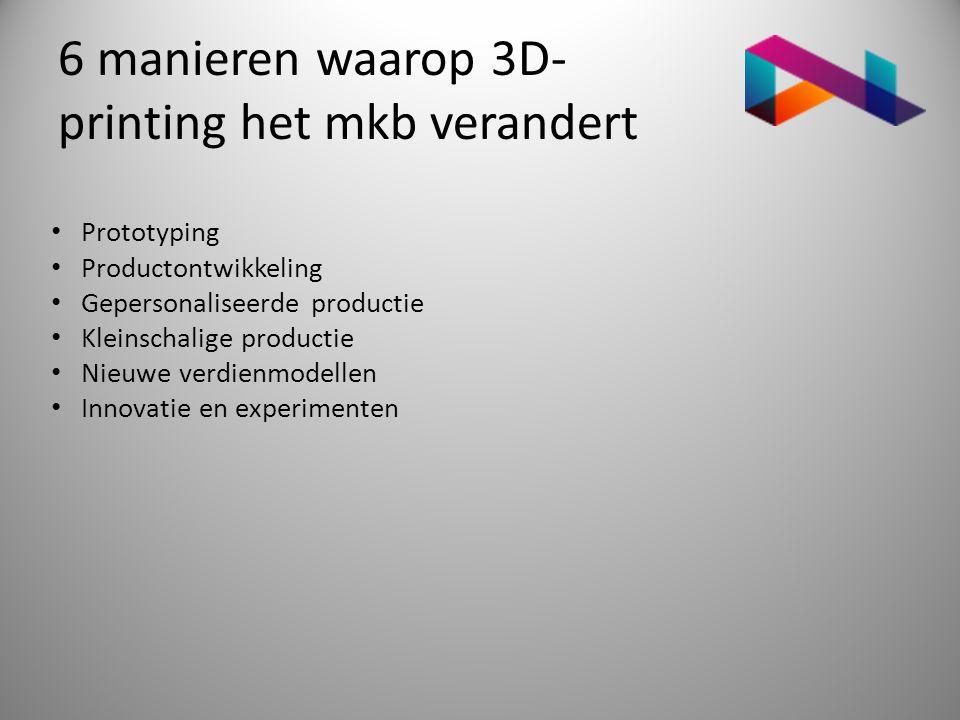 6 manieren waarop 3D-printing het mkb verandert
