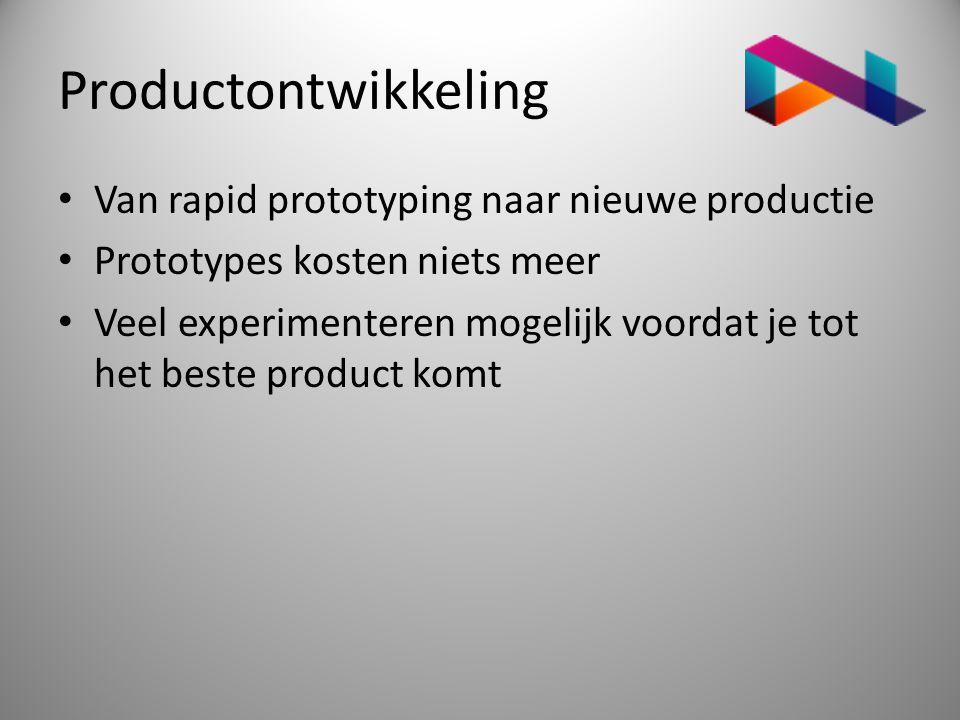 Productontwikkeling Van rapid prototyping naar nieuwe productie