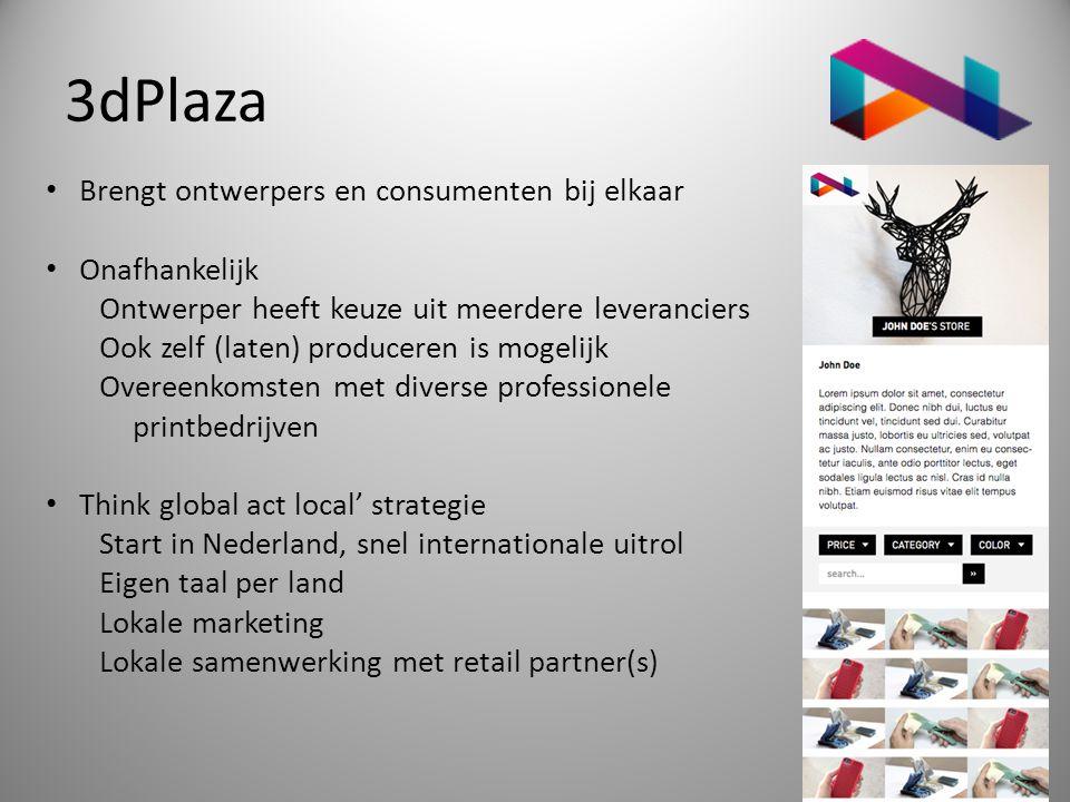 3dPlaza Brengt ontwerpers en consumenten bij elkaar Onafhankelijk