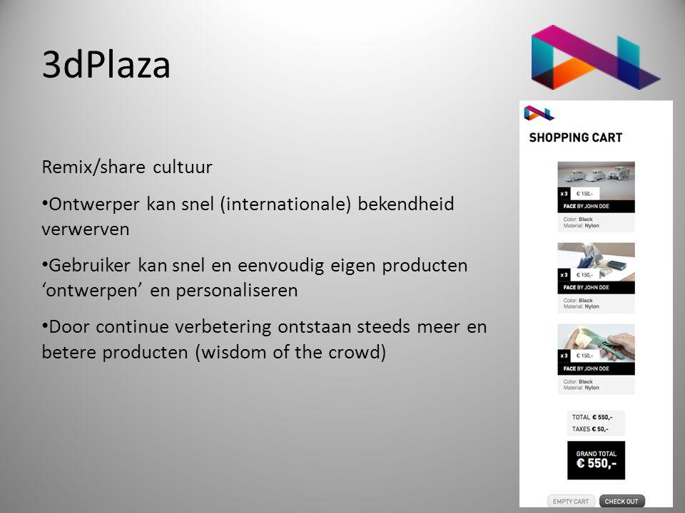 3dPlaza Remix/share cultuur