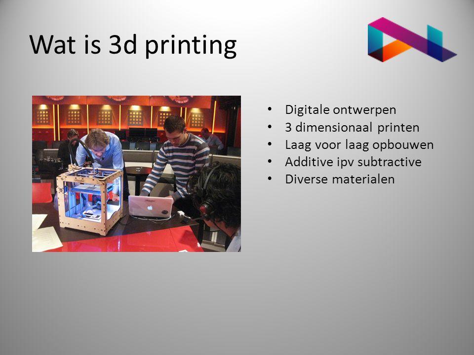 Wat is 3d printing Digitale ontwerpen 3 dimensionaal printen
