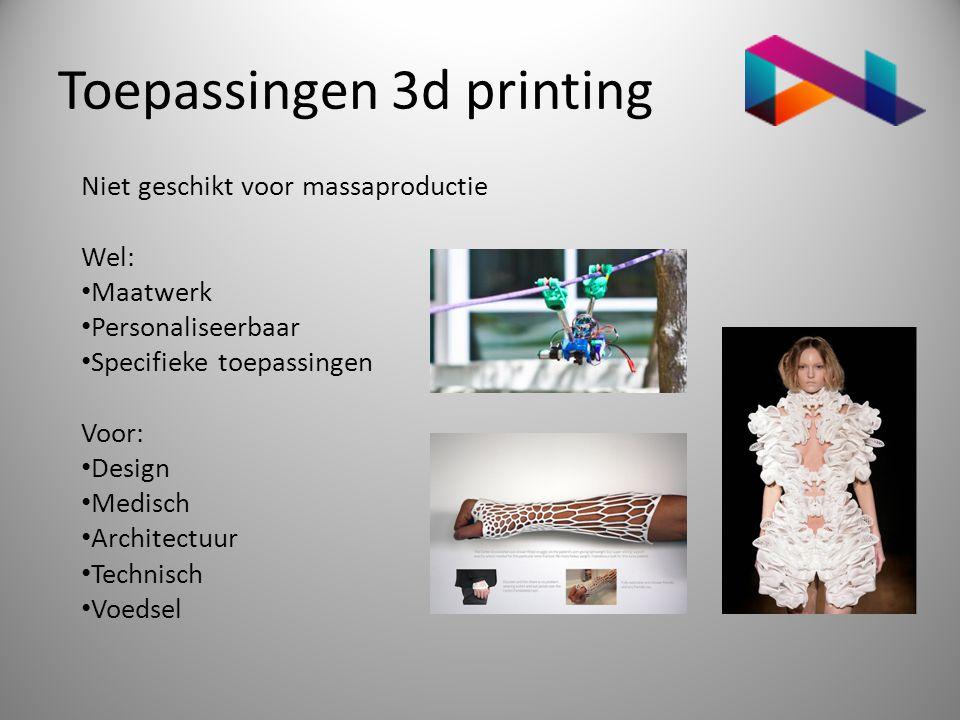 Toepassingen 3d printing