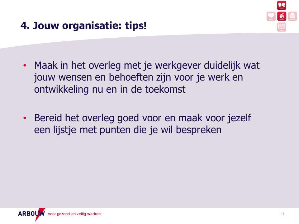 4. Jouw organisatie: tips!
