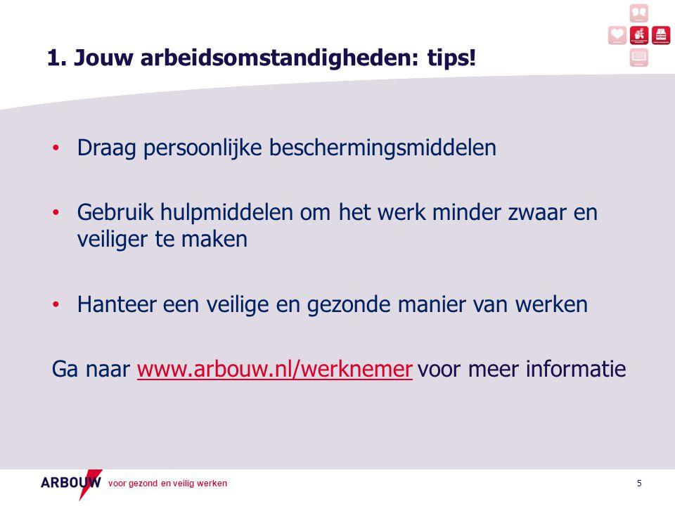 1. Jouw arbeidsomstandigheden: tips!