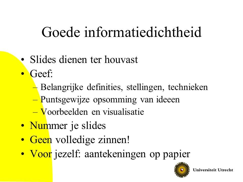 Goede informatiedichtheid