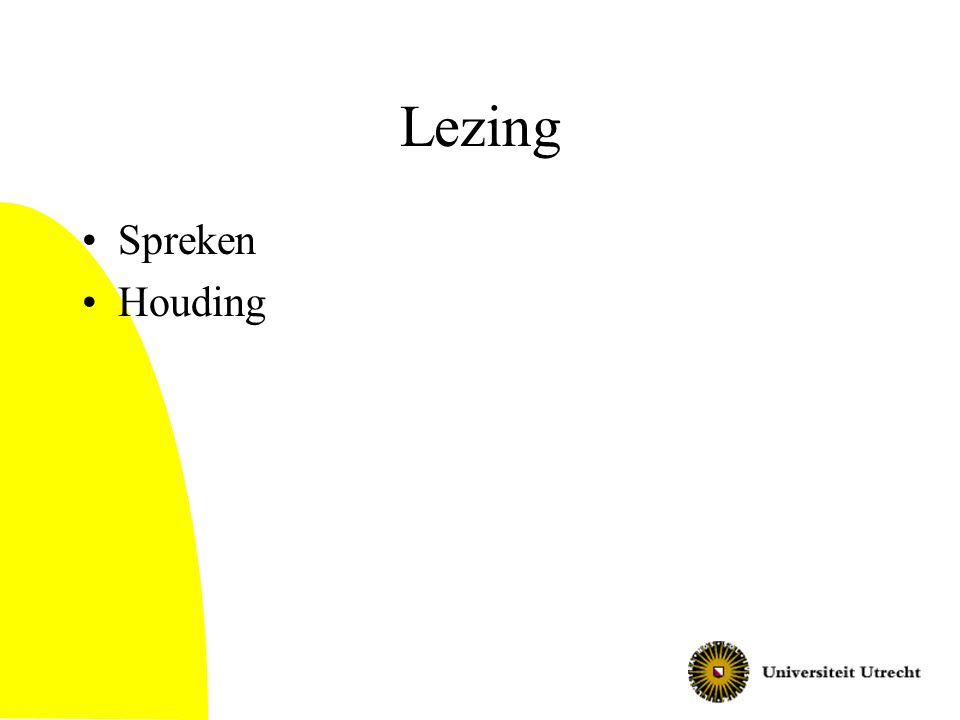 Lezing Spreken Houding
