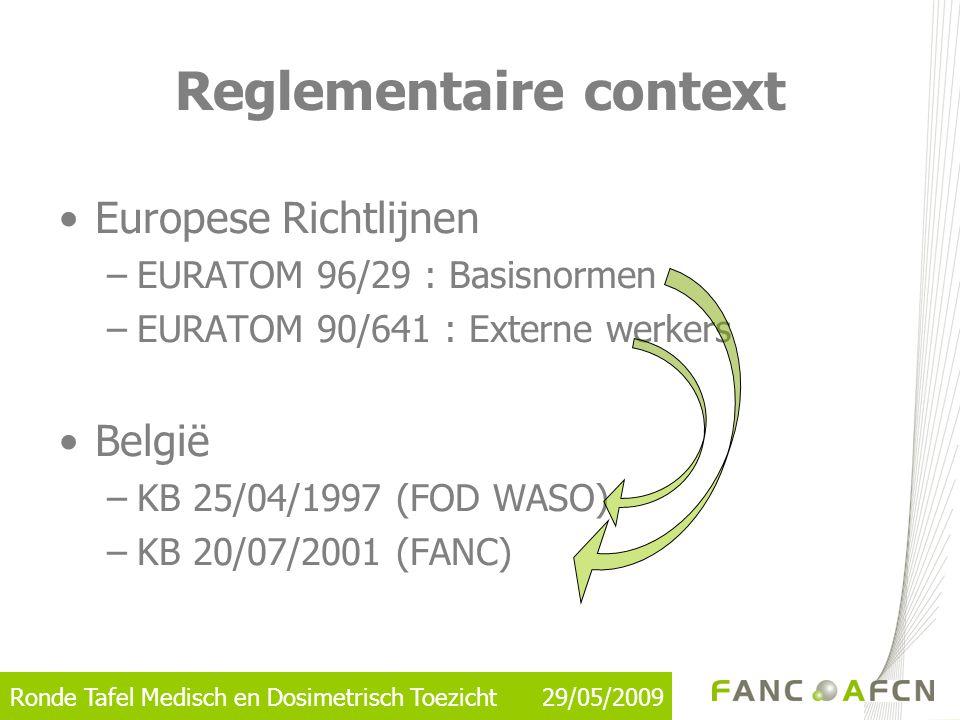 Reglementaire context