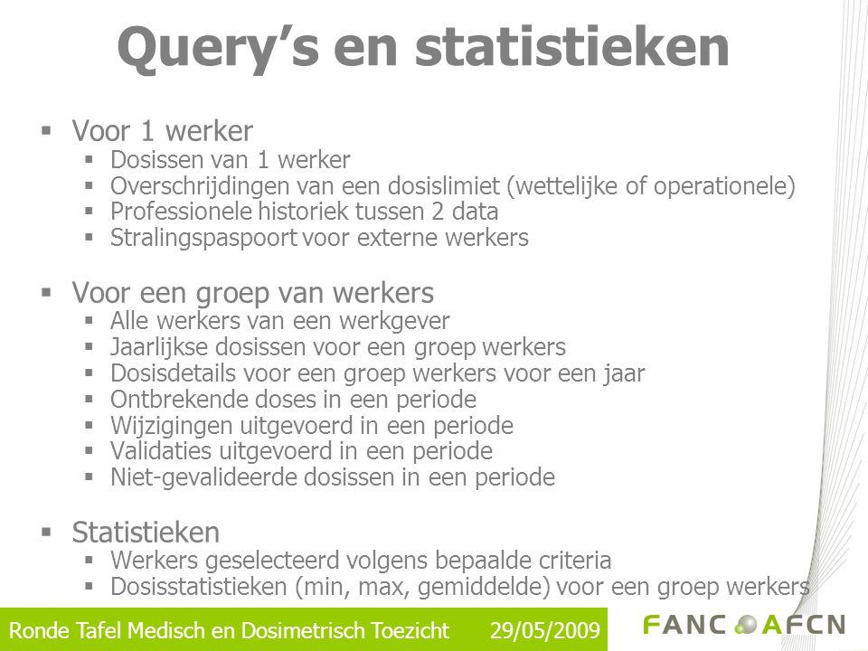Query's en statistieken