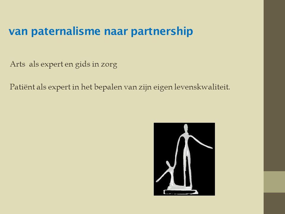 van paternalisme naar partnership