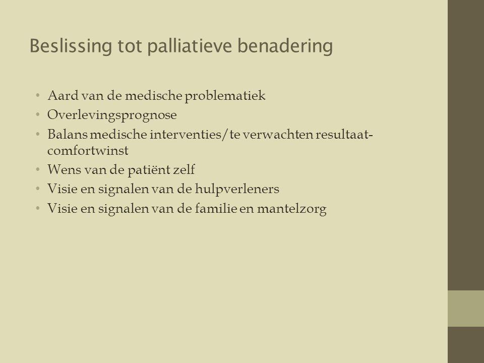 Beslissing tot palliatieve benadering