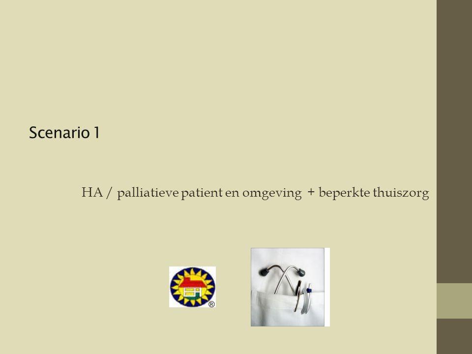 HA / palliatieve patient en omgeving + beperkte thuiszorg