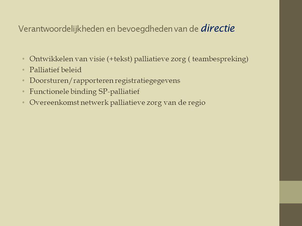 Verantwoordelijkheden en bevoegdheden van de directie