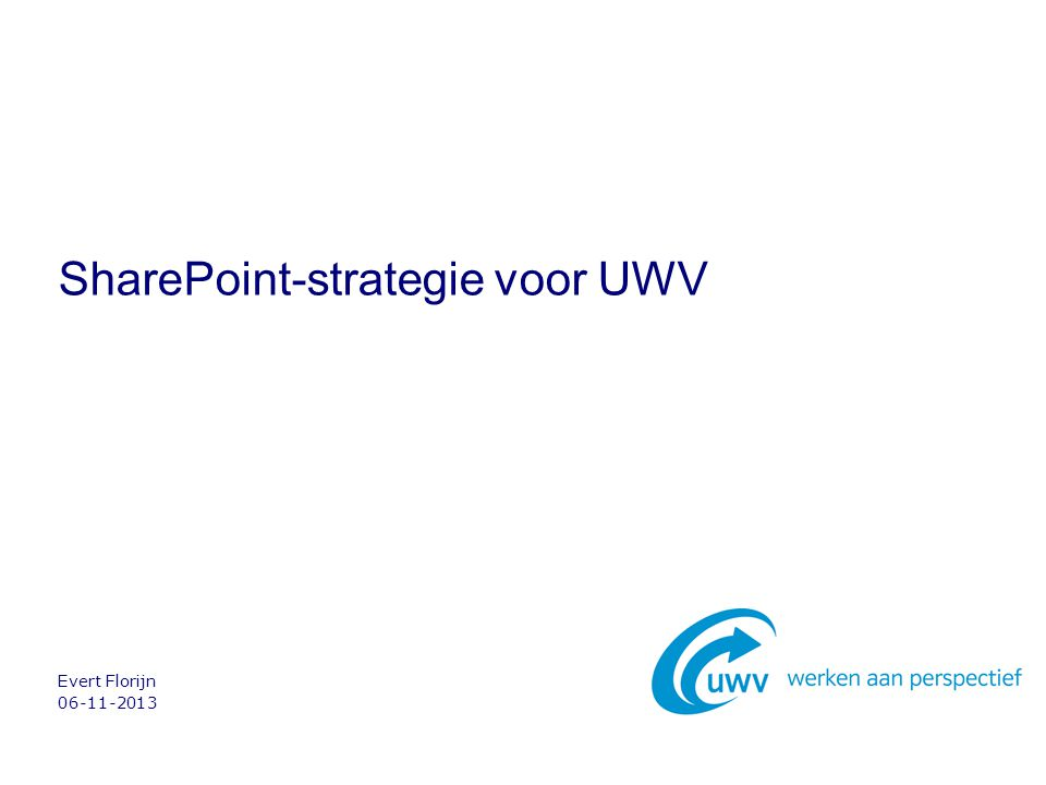 SharePoint-strategie voor UWV