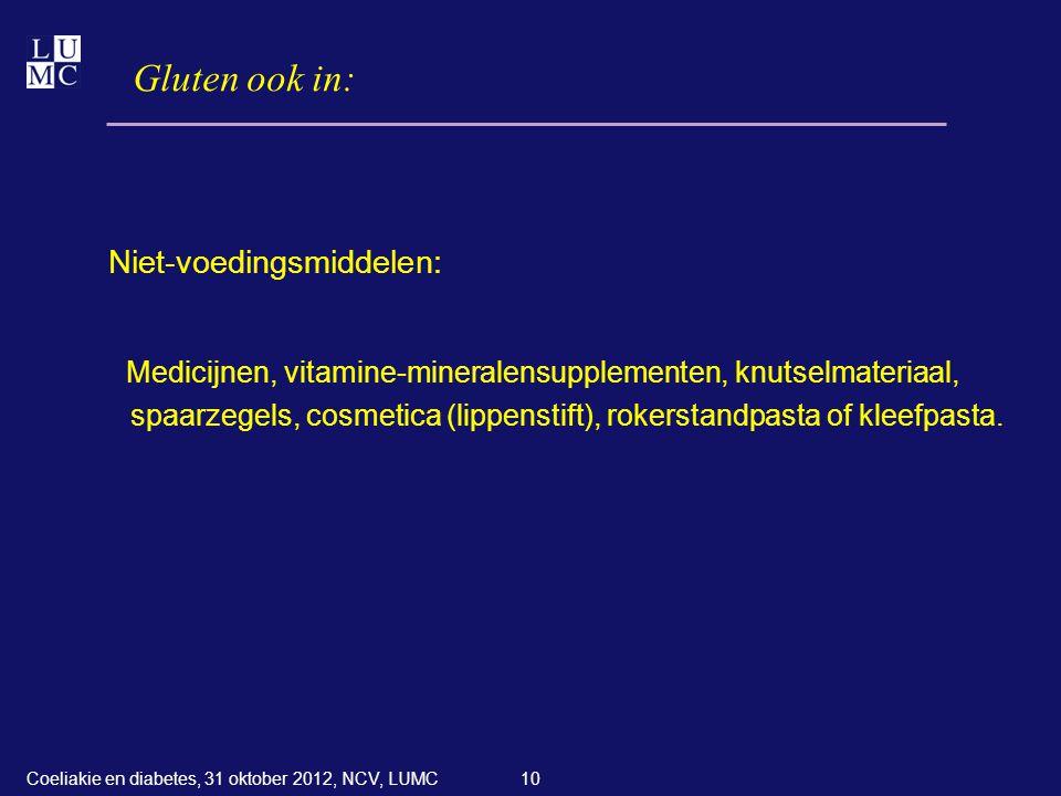 Gluten ook in: Niet-voedingsmiddelen: