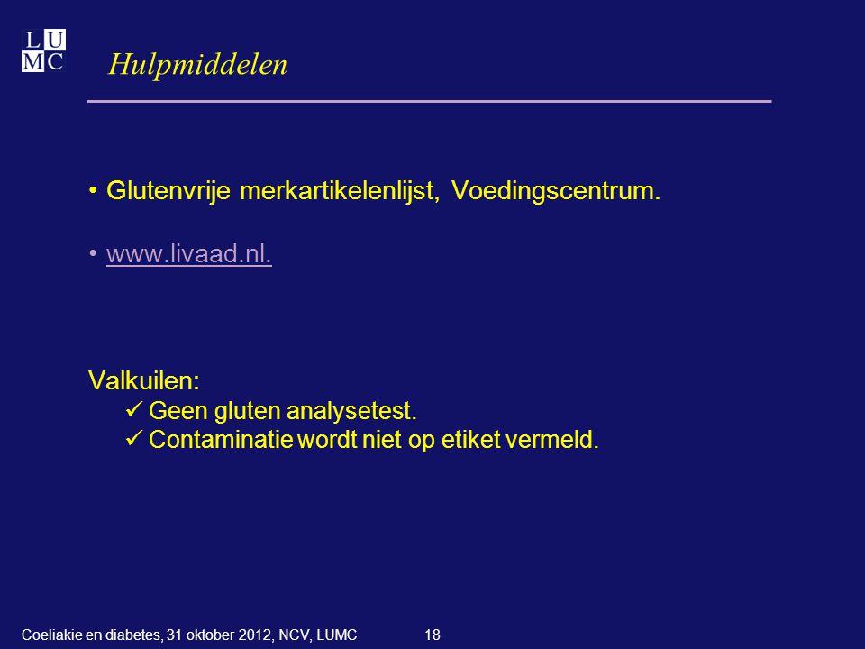 Hulpmiddelen Glutenvrije merkartikelenlijst, Voedingscentrum.