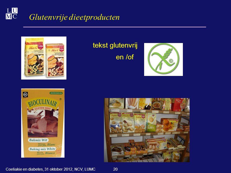 Glutenvrije dieetproducten