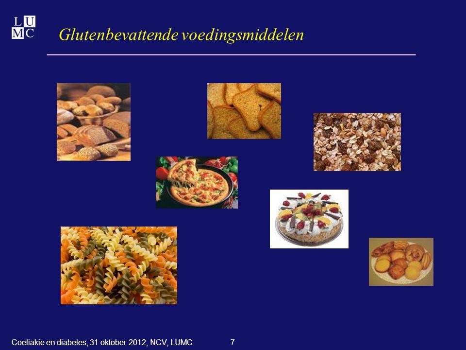 Glutenbevattende voedingsmiddelen