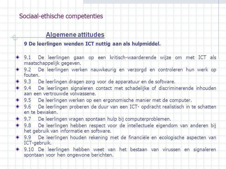 Sociaal-ethische competenties
