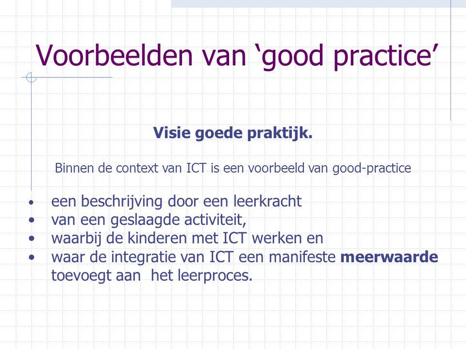 Voorbeelden van 'good practice'