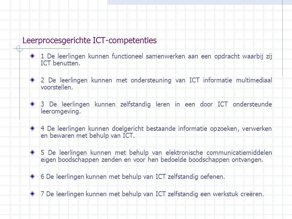 Leerprocesgerichte ICT-competenties