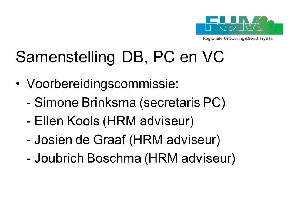 Samenstelling DB, PC en VC