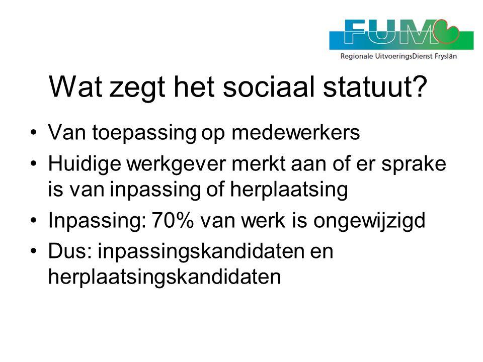 Wat zegt het sociaal statuut