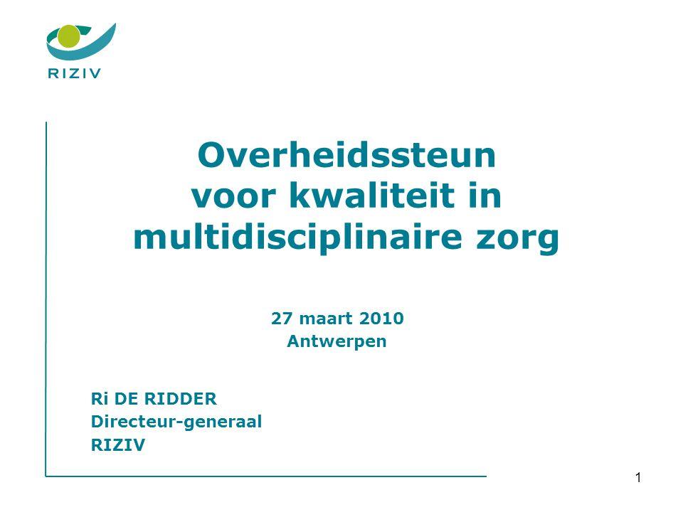 Overheidssteun voor kwaliteit in multidisciplinaire zorg