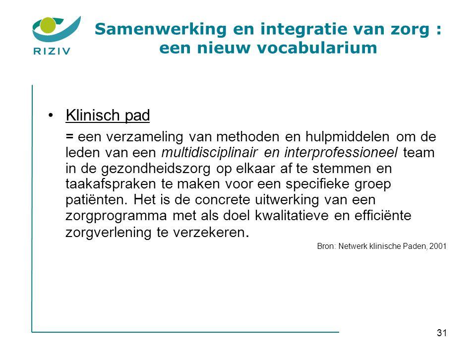 Samenwerking en integratie van zorg : een nieuw vocabularium